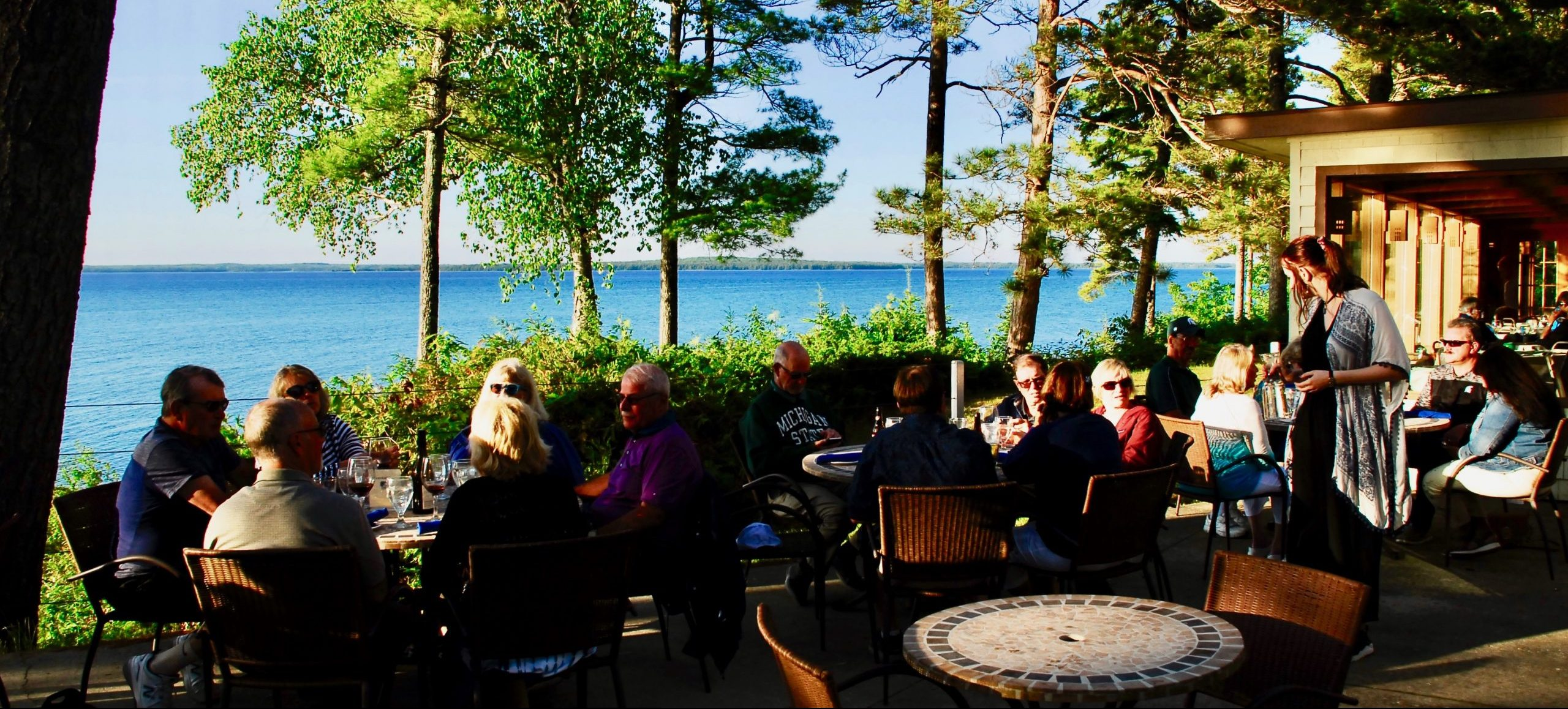 sunset Terrace at the Beaver Island Lodge